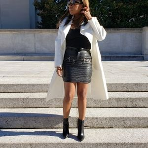 H&M quilted faux leather skirt